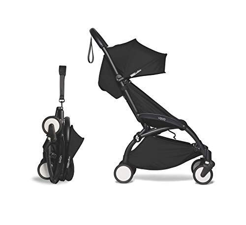 Babyzen YOYO2 Stroller – Black Frame with Black Seat Cushion & Canopy