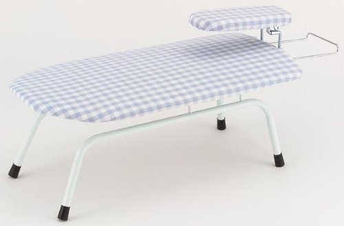 膝があたらないユニークな構造 アイロン台 立体型フリーアーム ヒザックスタイプ(仕上げ馬付) ギンガムブルー HCS-7 [簡易パッケージ品] B07H1T968X