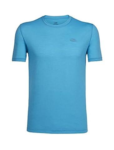 Icebreaker Merino Men's Tech Lite Short Sleeve Crewe T-Shirt, Capri/Capri, (Mens Capris)