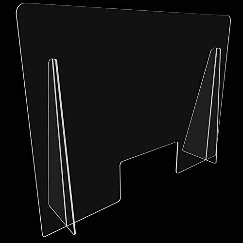 Mampara de Proteccion para mostradores, Policarbonato/Metacrilato Compacto 3-4 mm, Varias medidas (60cm x 40cm)