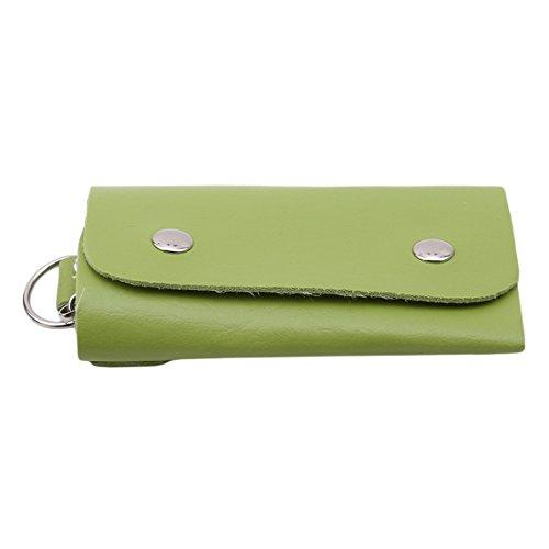 Rurah Leather Key Case Wallet Mens Womens Key Case Car Key Holder Bag Wallet,green by Rurah (Image #1)