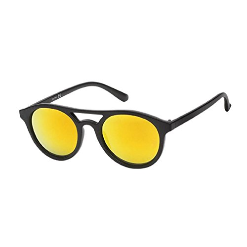 Chic-Net Gafas de sol retro UV 400 Panto vidrio pierna doble ...