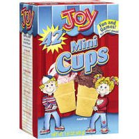 Joy Mini Cups Miniature Ice Cream Cones For Kids, Desserts, Cupcake Cones, Cake Pops 42 Count (Case of ()