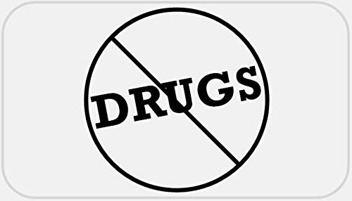 Anti Drugs - 100 Stickers Pack 2.25 x 1.25 inches - Against Protest Slogan (Best Anti Drug Slogans)