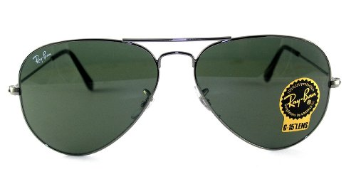 classic ray ban aviators l0o5  Amazoncom: Ray-Ban Aviator Large Metal Sunglasses Rb3025 004/58 Gunmetal  Crystal Green Polarized: Shoes