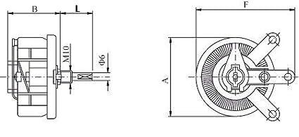 Rheostat Electronics-Salon 200W 50 OHM High Power Wirewound Potentiometer Variable Resistor.