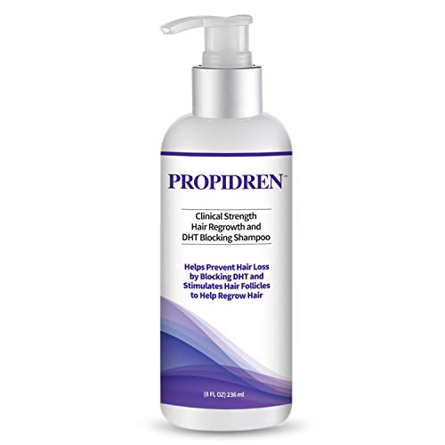 Hairgenics Propidren Hair Growth Shampoo for Thinning and Balding Hair with Biotin, Keratin, and Powerful DHT Blockers to Prevent Hair Loss, Nourish and Stimulate Hair Follicles and Help Regrow Hair.