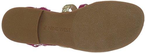 Nine West Women's Nwxema3 Gladiator Sandals, US Pink/Multi