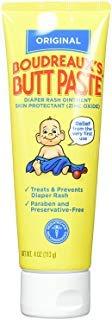 Boudreaux's Butt Paste, Diaper Rash Ointment, Tube 4 oz (Quantity of 1) by BORDEAUX'S