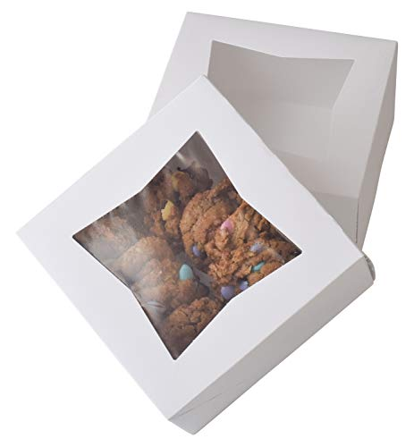 "6"" x 6"" x 3"" White Bakery Box 