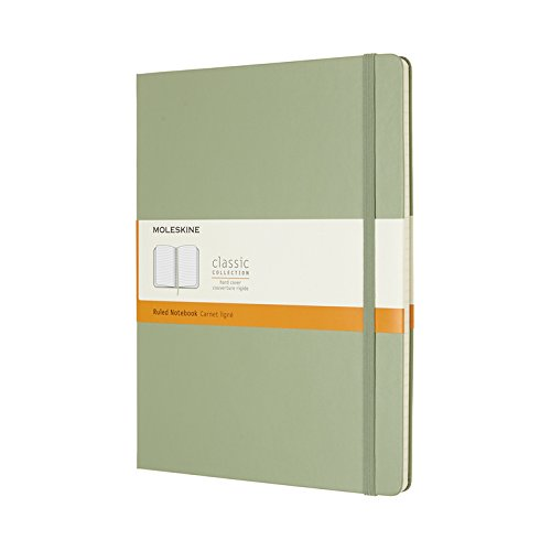 Moleskine Classic Notebook, Extra Large, Ruled, Willow Green, Hard Cover (7.5 x 10) 8055002855143 NON-CLASSIFIABLE