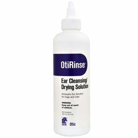 DVM OtiRinse Cleansing/Drying Ear Solution (8 oz)