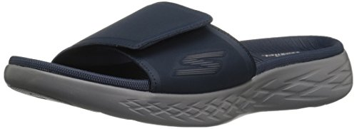 Uomo 600 Sandali The Skechers Regal Goo Navy Plateau On con Blu Hwq8Oc4c