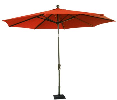 8.25' Oversized Deluxe Market Umbrella with Tilt Function - Terracotta Rust