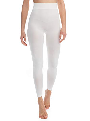 - FarmaCell Bodyshaper 609B (Ivory, XXL) Firm Control Shaping Leggings with Girdle Light and Refreshing NILIT Breeze Fibre
