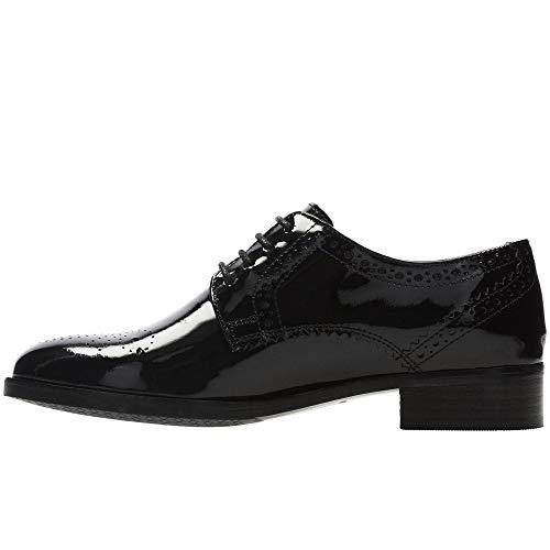 de Patent Negro Clarks Mujer Rose Netley para Zapatos Black Derby Cordones wwPtSq