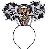 [Silver Happy New Year Head Boppers Happy New Year Headband For Fancy Dress] (Happy New Year Boppers)