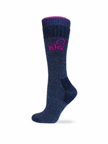 (Realtree Girl Women's Heavy Wool Blend Boot Socks (1-Pair), Navy, Medium)