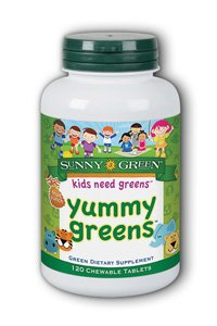 (Sunny Green Yummy Greens Fruit Punch 120 Chewable Tablets)