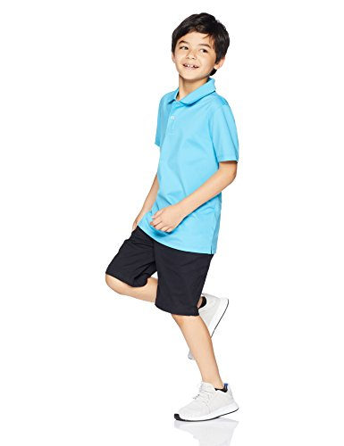 Amazon Essentials Boys' 2-Pack Performance Polo, Canyon Blue/Black, M (8) by Amazon Essentials (Image #2)