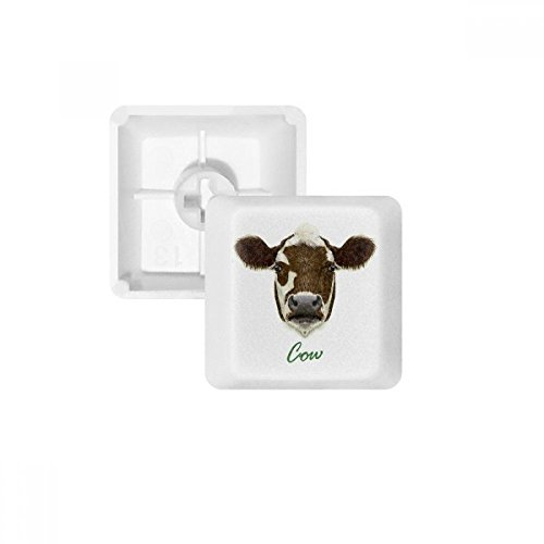 Brown-and-White Domestic Dairy Cow Animal PBT Keycaps for sale  Delivered anywhere in USA