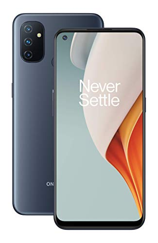 "OnePlus Nord N100 (64GB, 4GB) 6.52"" 90Hz Display, Snapdragon, 5000mAh, Dual SIM GSM Unlocked Global 4G LTE (T-Mobile, AT&T, Metro, Straight Talk) International Model (Midnight Frost, 64GB SD Bundle)"