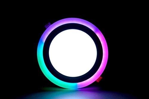 DMT Round PGB Effect 3D LED Panel Light (15 Watt, Multicolour)