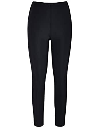Hilor Women's UV Rash Guard Pants Swim Leggings Surfing Tights Black 12