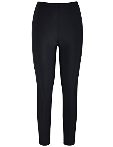 - Hilor Women's UV Rash Guard Pants Swim Leggings Surfing Tights Black 22