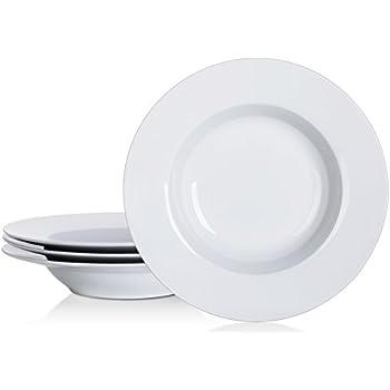YHY 8-1/4-inch Porcelain Soup Bowls/Rim Bowl Set White Set of 4  sc 1 st  Amazon.com & Amazon.com: YHY 9 Inch/15oz Porcelain Salad/Pasta Bowls 4 Piece ...
