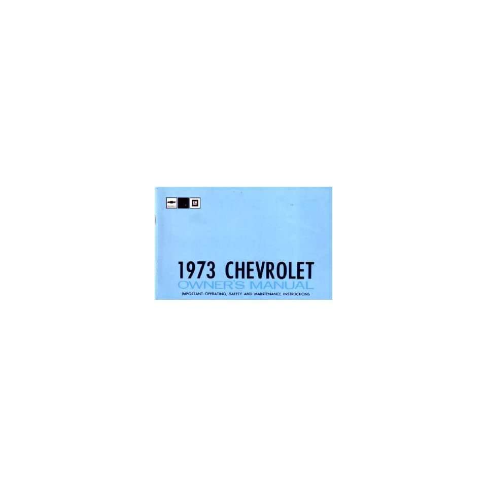 1973 CHEVROLET IMPALA FULL SIZE Owners Manual Guide