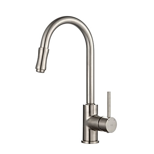 Kraus KPF-1622SN Single Lever Pull Down Kitchen Faucet Satin Nickel