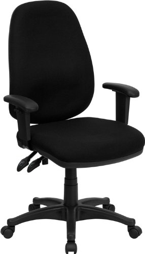 amazon com flash furniture high back black fabric executive swivel