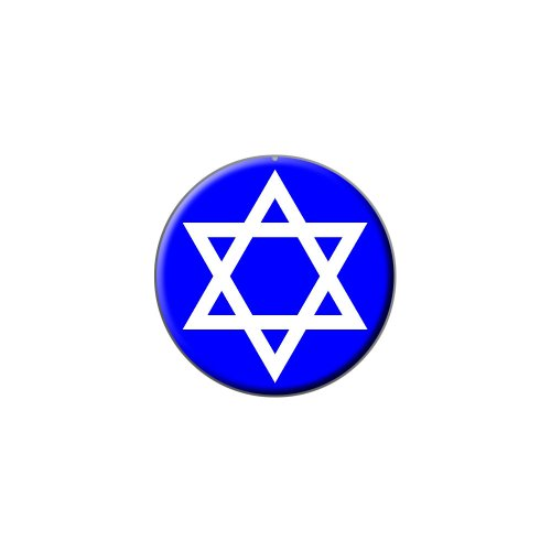 Star of David - Shield Jewish - Metal Lapel Hat Pin Tie Tack Pinback