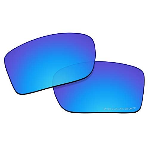 OOWLIT Replacement Lenses Compatible with Oakley Double Edge Sunglass Ice Combine8 ()