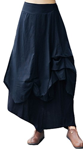 Double Layer Gathered Skirt - 2