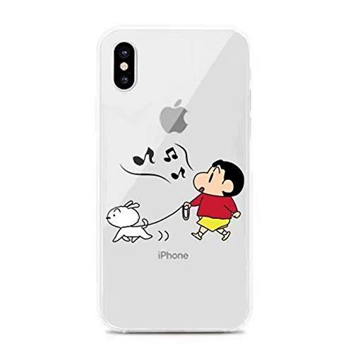 魅力的遺産ホップクレヨンしんちゃん シロのお散歩 TPU クリアソフトケース iPhone対応 (iPhoneX/iPhoneXS(共通))
