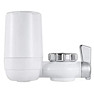 IGRNG Faucet Filter Home Kitchen Water Filter Washable Ceramic Filter Faucet Filter Tap Water Purifier