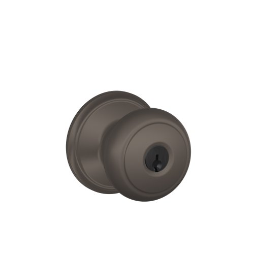 613 Interior Single Cylinder - Schlage F51A AND 613 Andover Knob Keyed Entry Lock, Oil Rubbed Bronze
