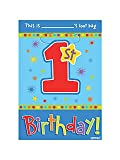 Hugs and Stitches Boy's 1st Birthday Loot Bags 8ct