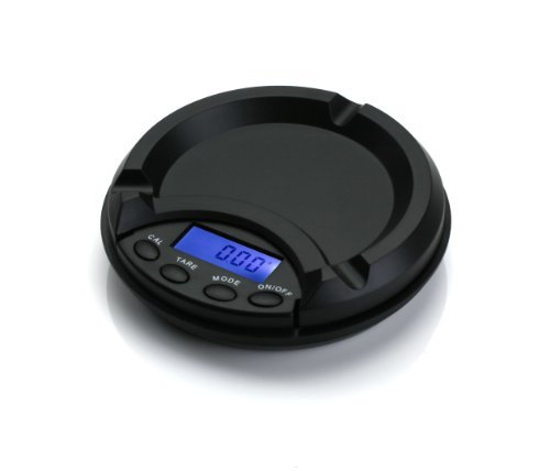 American Weigh Scale AT-100 Ashtray Scale, Black, 100 X 0.01 G by American Weigh ()