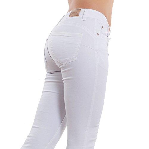 Nuovi Elasticizzati Push M5780 Bianco Aderenti Skinny Jeans Donna Toocool Pantaloni Up Slim qfzXRY