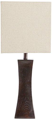 - Lite Source LS-21330 Enkel Table Lamp, Dark Walnut with Tan Fabric Shade