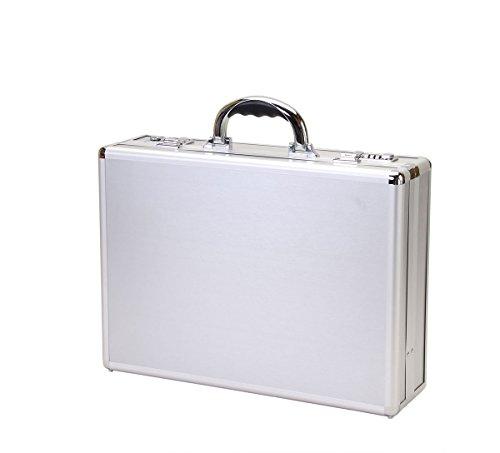 T.Z. Case International T.z Aluminum Attache Case Stripe Panels, 18 X 13 X 5 in, Silver by T.Z. Case International