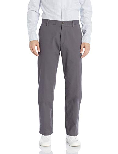 Amazon Essentials Men's Classic-Fit Wrinkle-Resistant Flat-Front Chino Pant, Light Grey, 31W x 30L ()