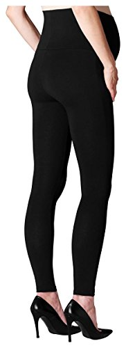 ESPRIT Maternidad Leggings Algodón/Mix Mujeres Moda premamá Medias/ Pantis M84101 Negro (Black)