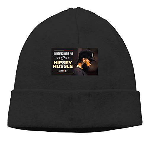 Unisex Nipsey -Hussle Poster Hyde Park Neighborhood Slouchy Hedging Head Hat Black