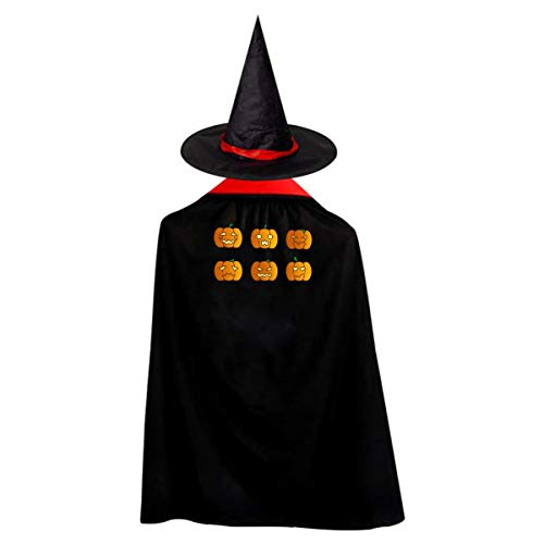 Unpleasant Pumpkin Kids' Witch Cape With Hat Cute Vampire Cloak For Halloween Cosplay Costume -