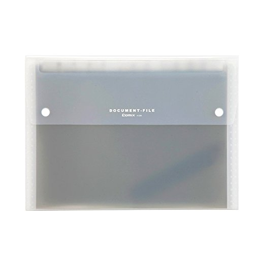 COMIX A4 Letter Size 13-Pocket Portable Expanding File Organizer Jacket - Grey (A1266GY)