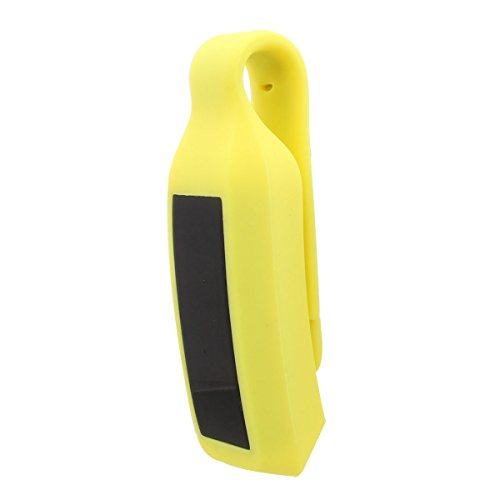 For Fitbit Alta Clip Holder Replacement Waterproof Smart Watch Band Yellow Collar Clip (Watch Steel Jackets Sport Yellow)